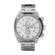 Diesel White Men's Stainless Steel Bracelet and White Chronograph Round Dial Watch